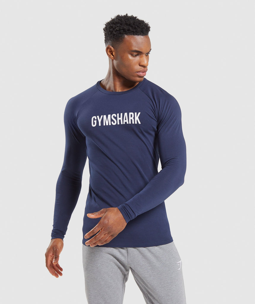 Gymshark Apollo Long Sleeve T-Shirt - Dark Blue 1