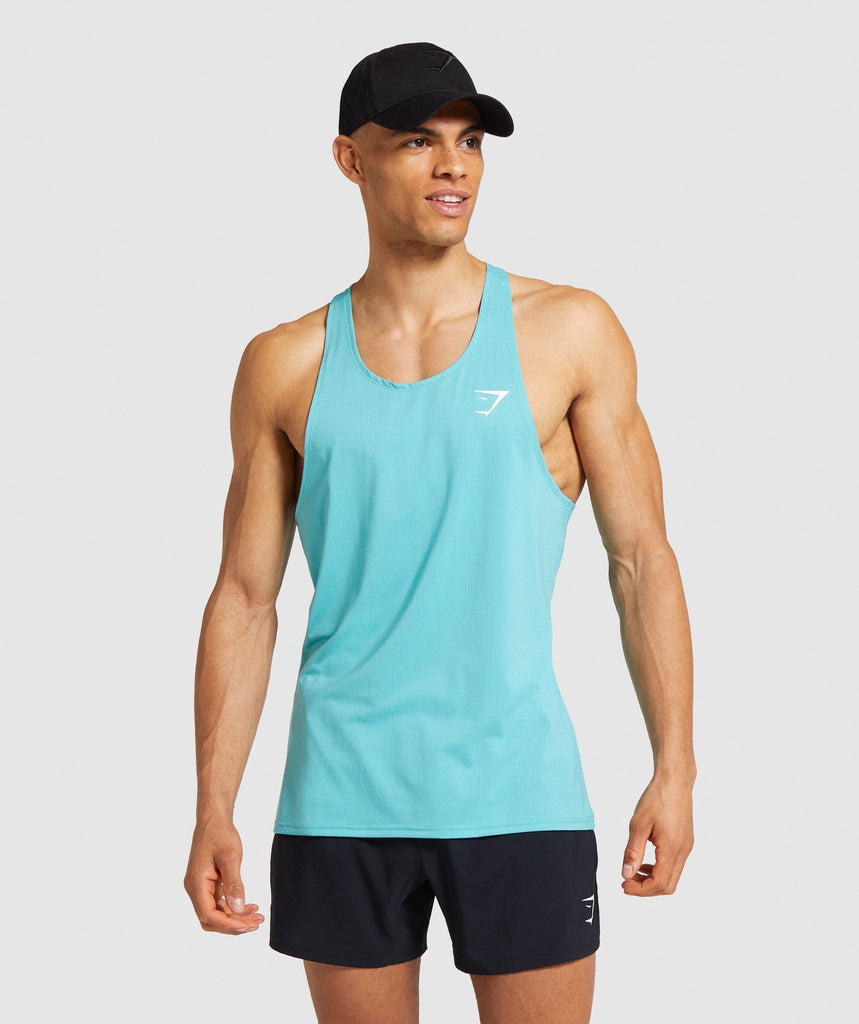 Gymshark Arrival Stringer - Light Blue 1