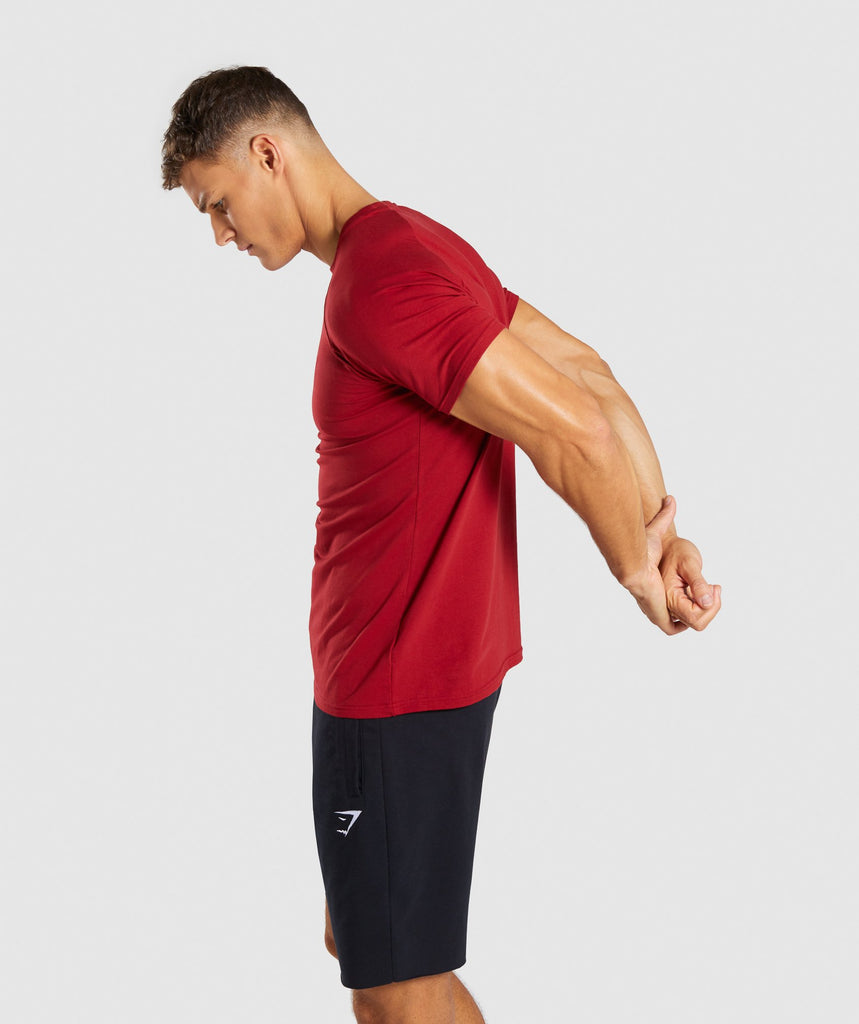 Gymshark Apollo T-Shirt - Full Red 2