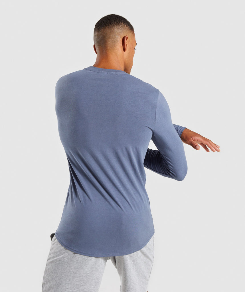 Gymshark Ark Long Sleeve T-Shirt - Aegean Blue 2