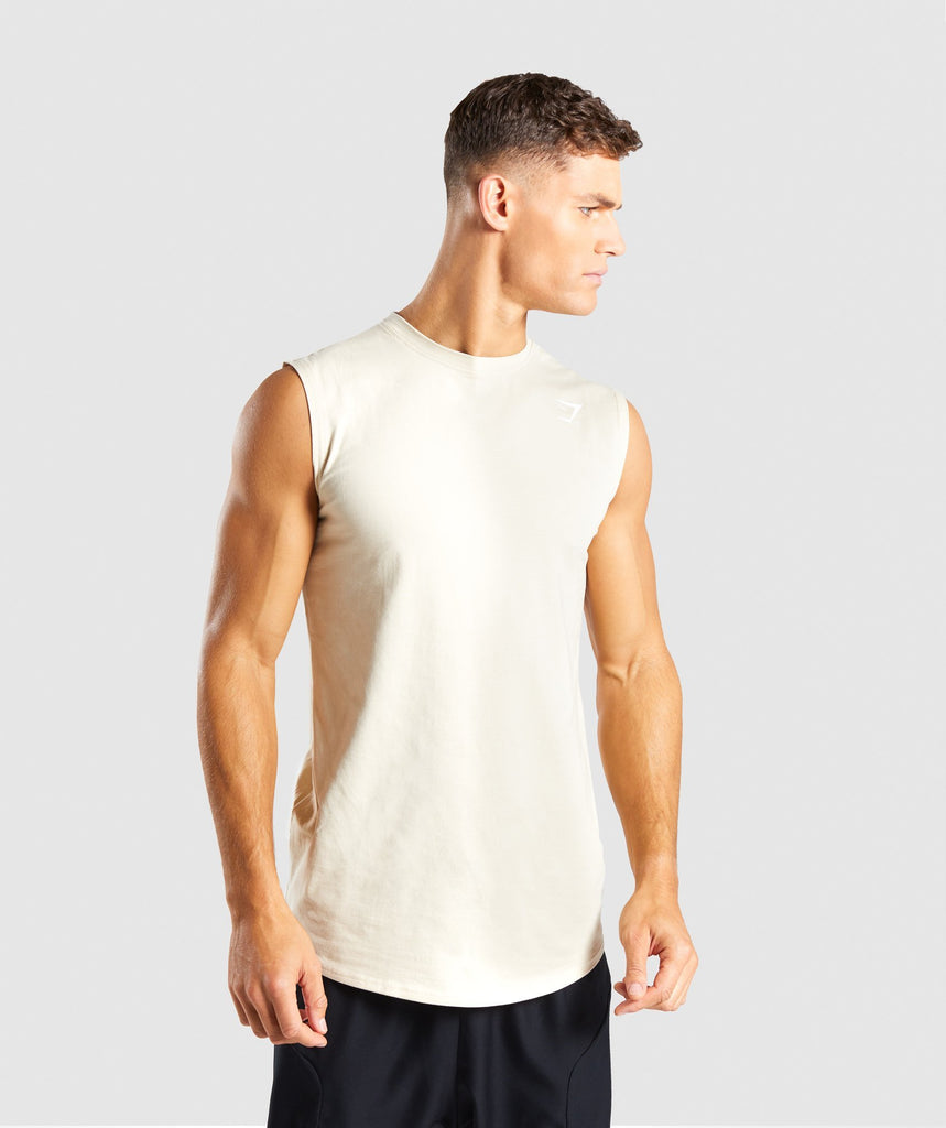 Gymshark Ark Sleeveless T-Shirt - Warm Beige 1