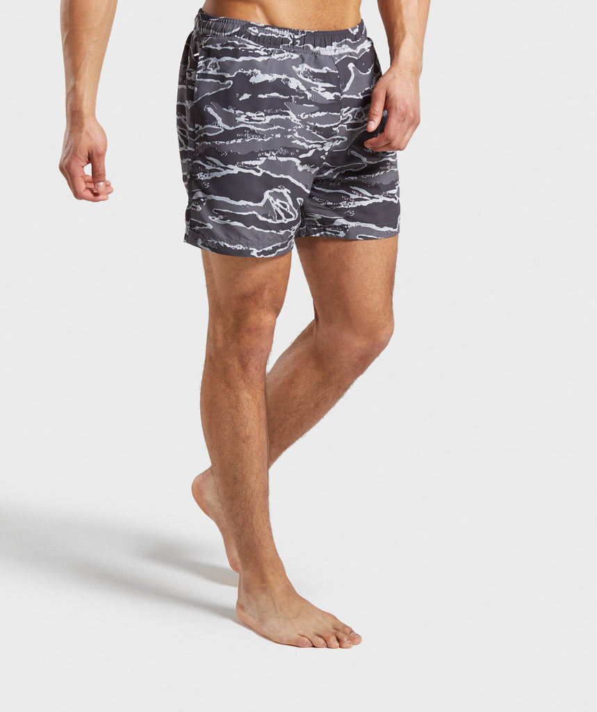 Gymshark Atlantic Swim Shorts - Grey Camo 1