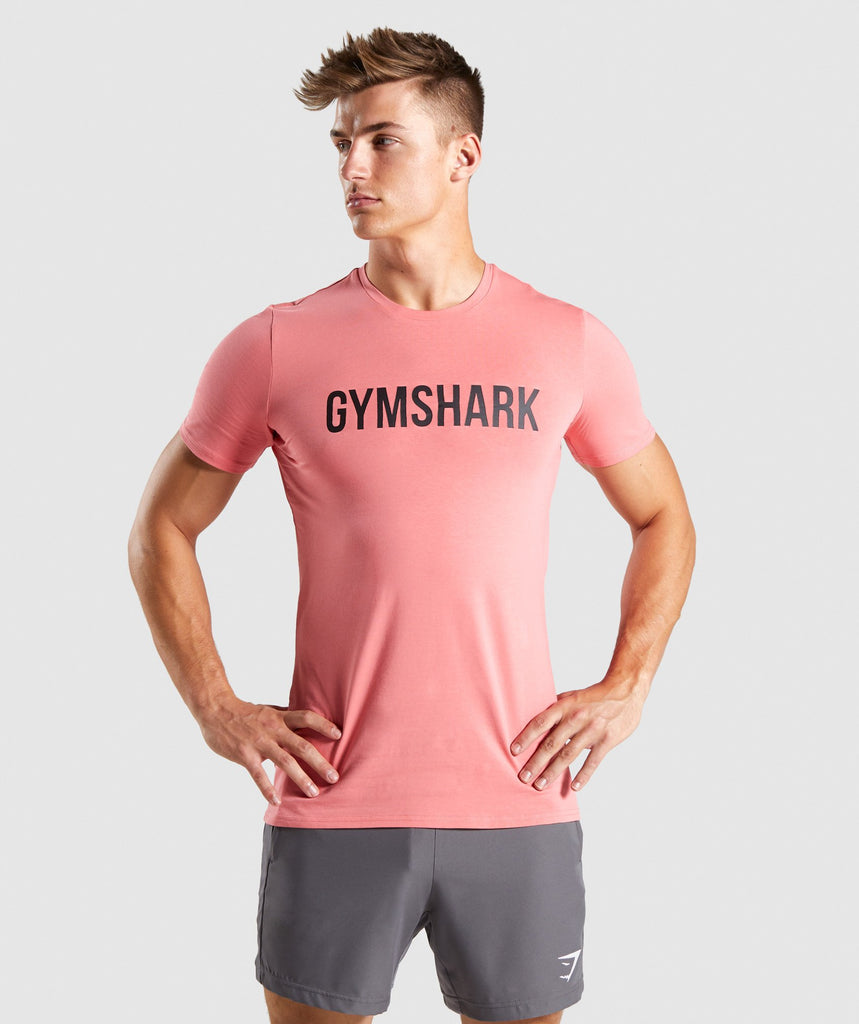 Gymshark Base T-Shirt - Washed Red 1
