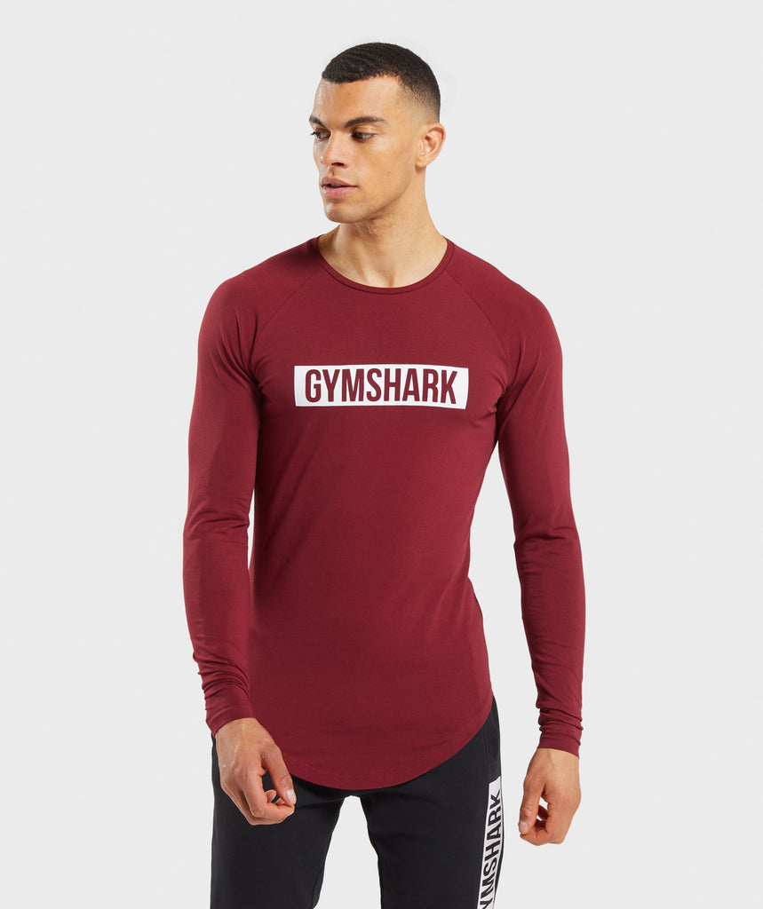 Gymshark Block Long Sleeve T-Shirt - Claret 1