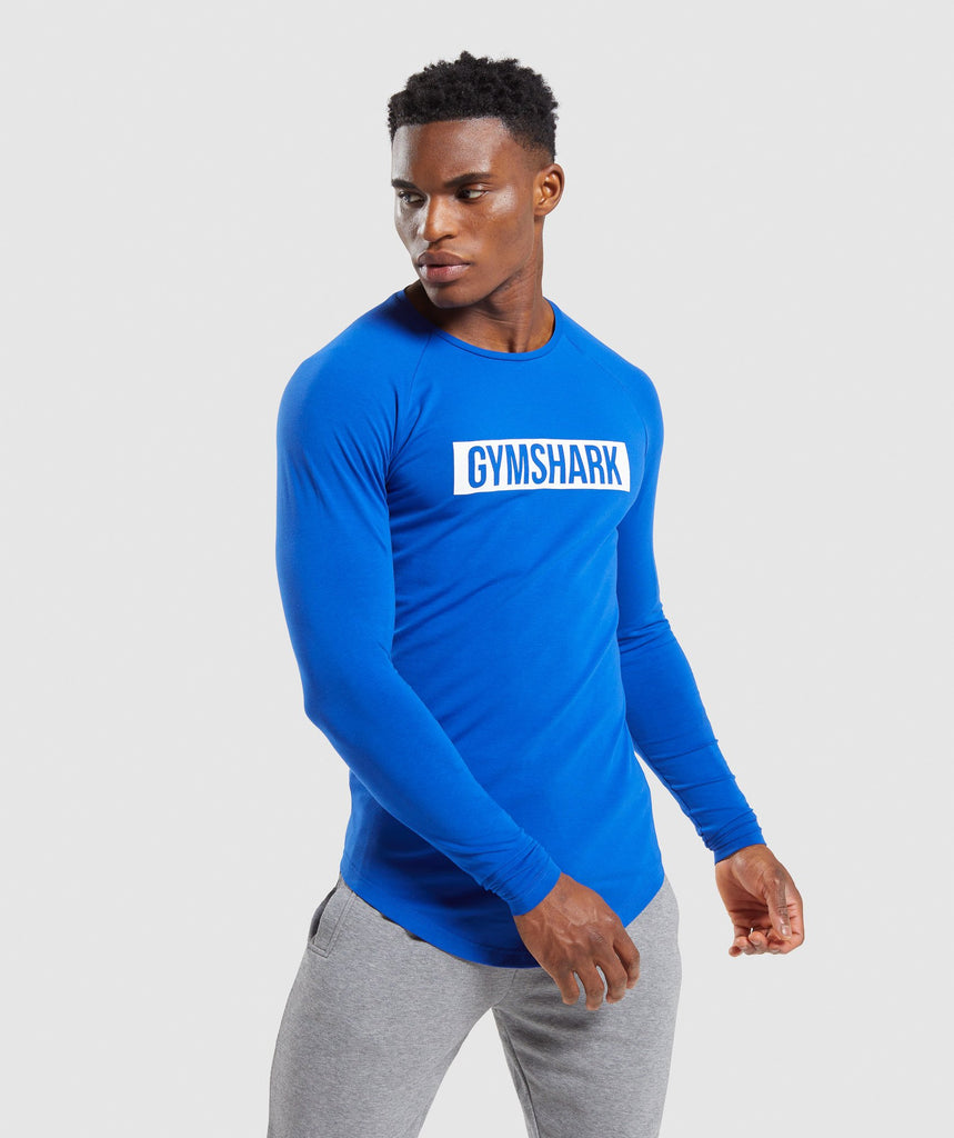 Gymshark Block Long Sleeve T-Shirt - Blue 1