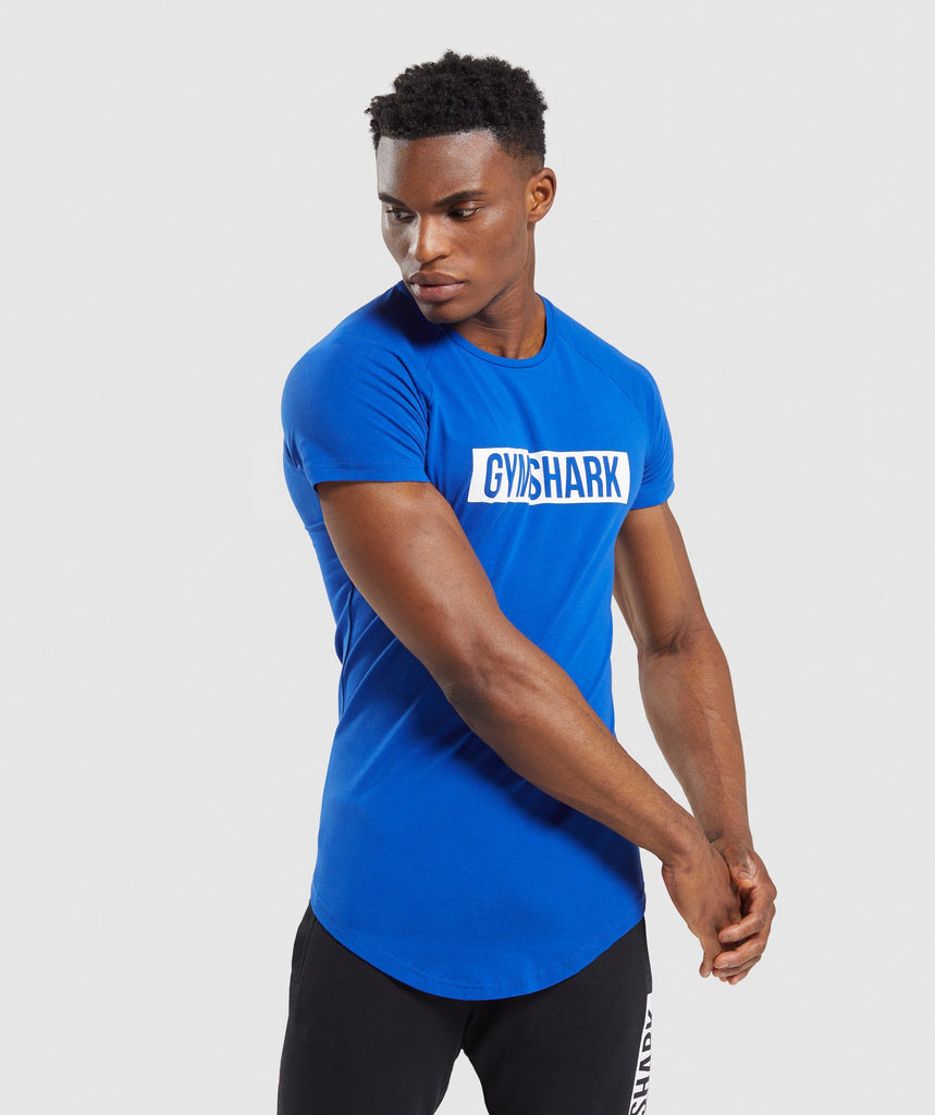 Gymshark Block T-Shirt - Blue 1