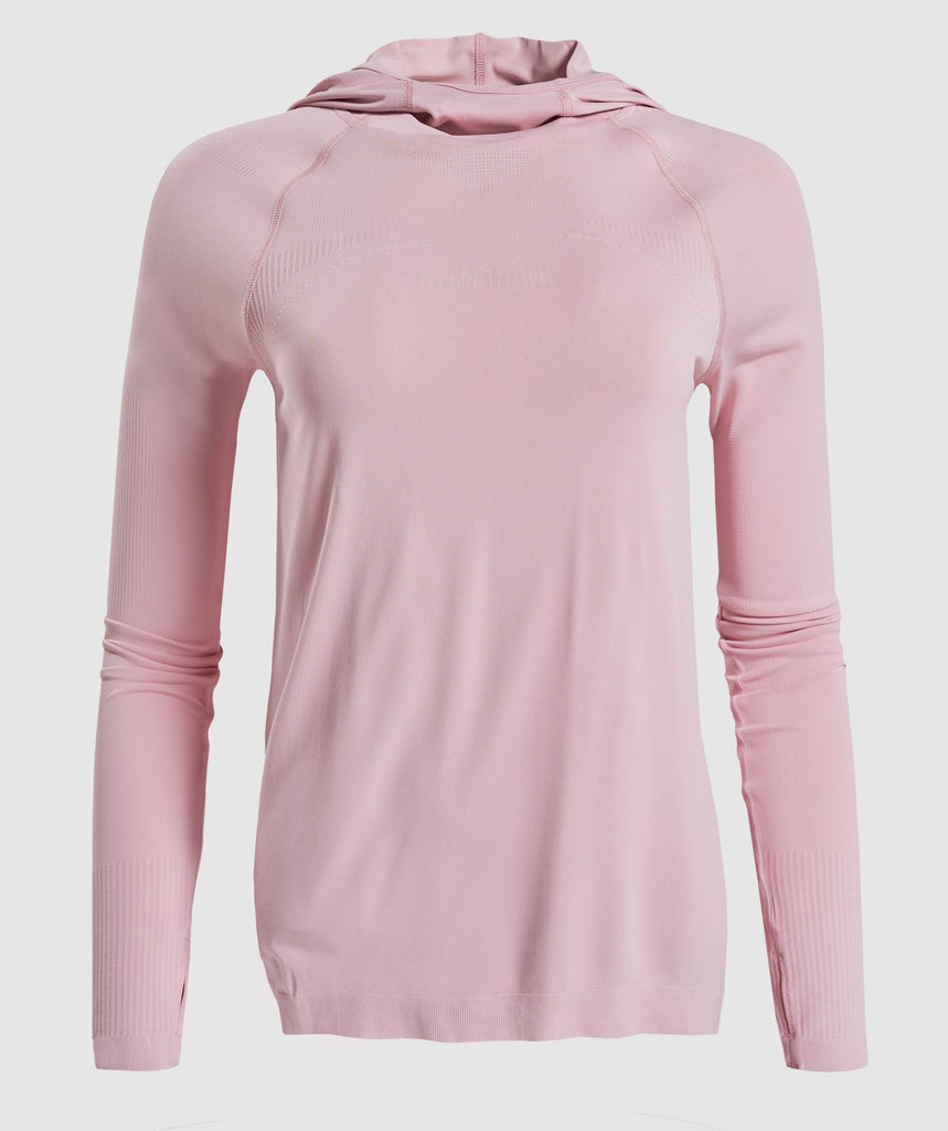 Gymshark Breeze Lightweight Seamless Hoodie - Pink 1