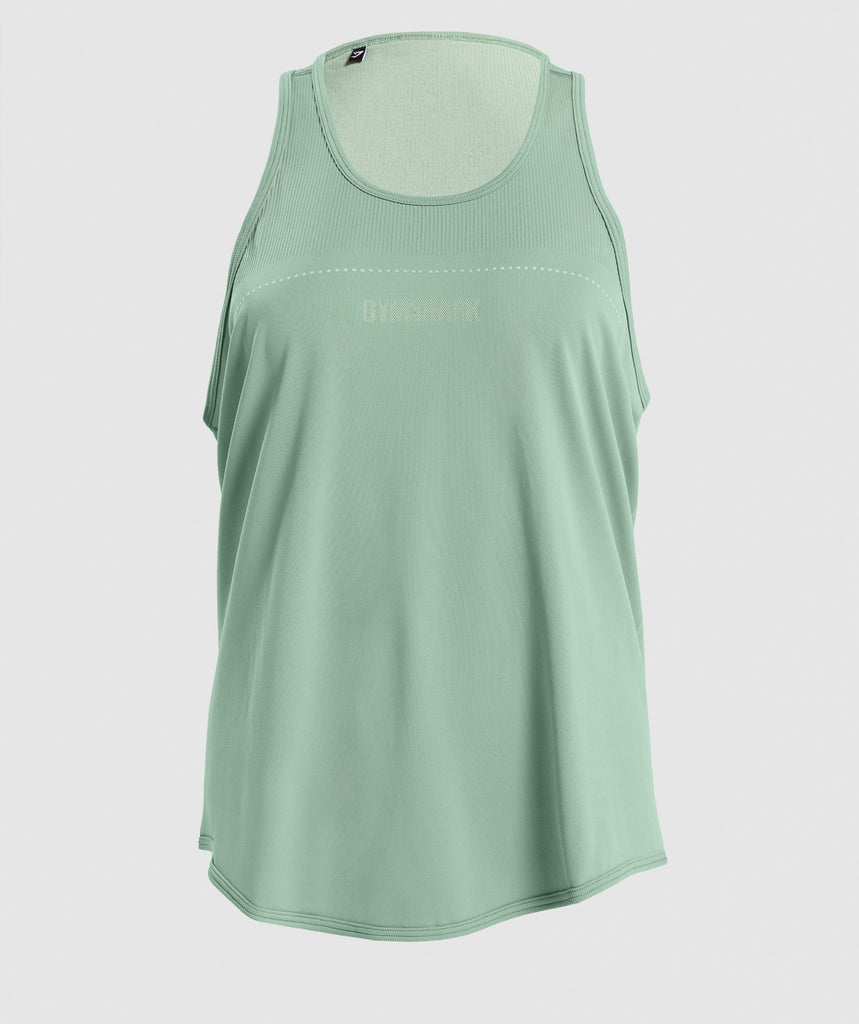 Gymshark Breeze Lightweight Seamless Vest - Green 1