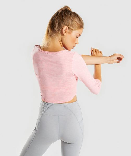 Gymshark Ballet Crop Top - Peach Marl 1