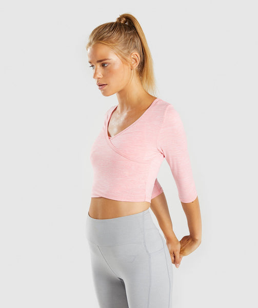 Gymshark Ballet Crop Top - Peach Marl 2
