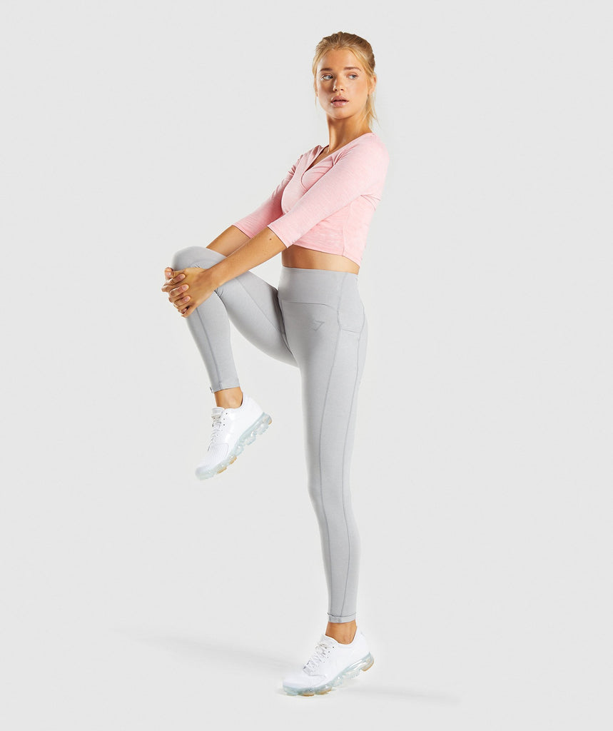 Gymshark Ballet Crop Top - Peach Marl 6