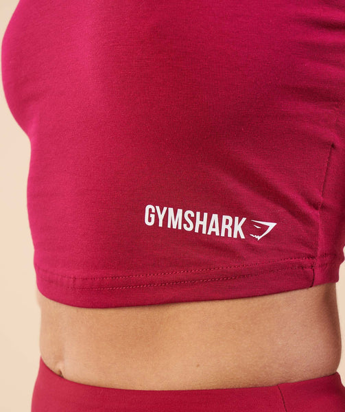 Gymshark Basic Crop Top - Beet 4