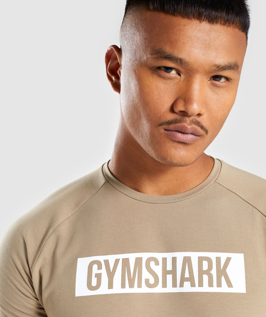 Gymshark Block T-Shirt - Driftwood Brown 5