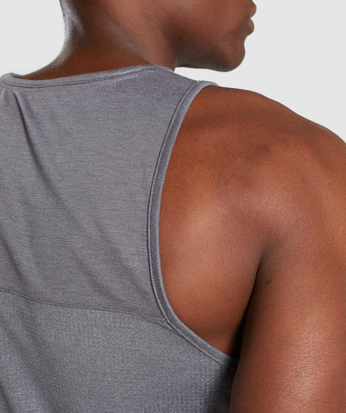 Gymshark Breathe Tank - Smokey Grey Marl 4