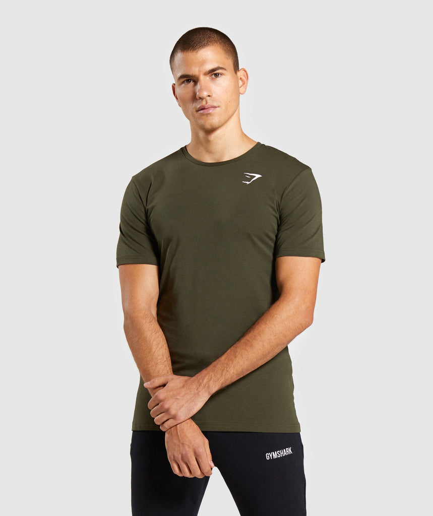 Gymshark Critical T-Shirt - Dark Green 1