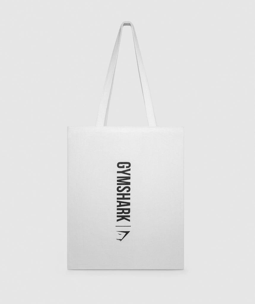 Gymshark Canvas Shopper Bag - White 1