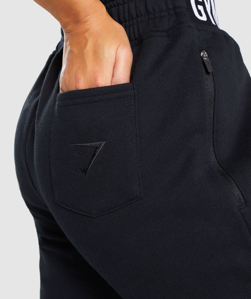 Gymshark Comfy Tracksuit Bottoms - Black 5