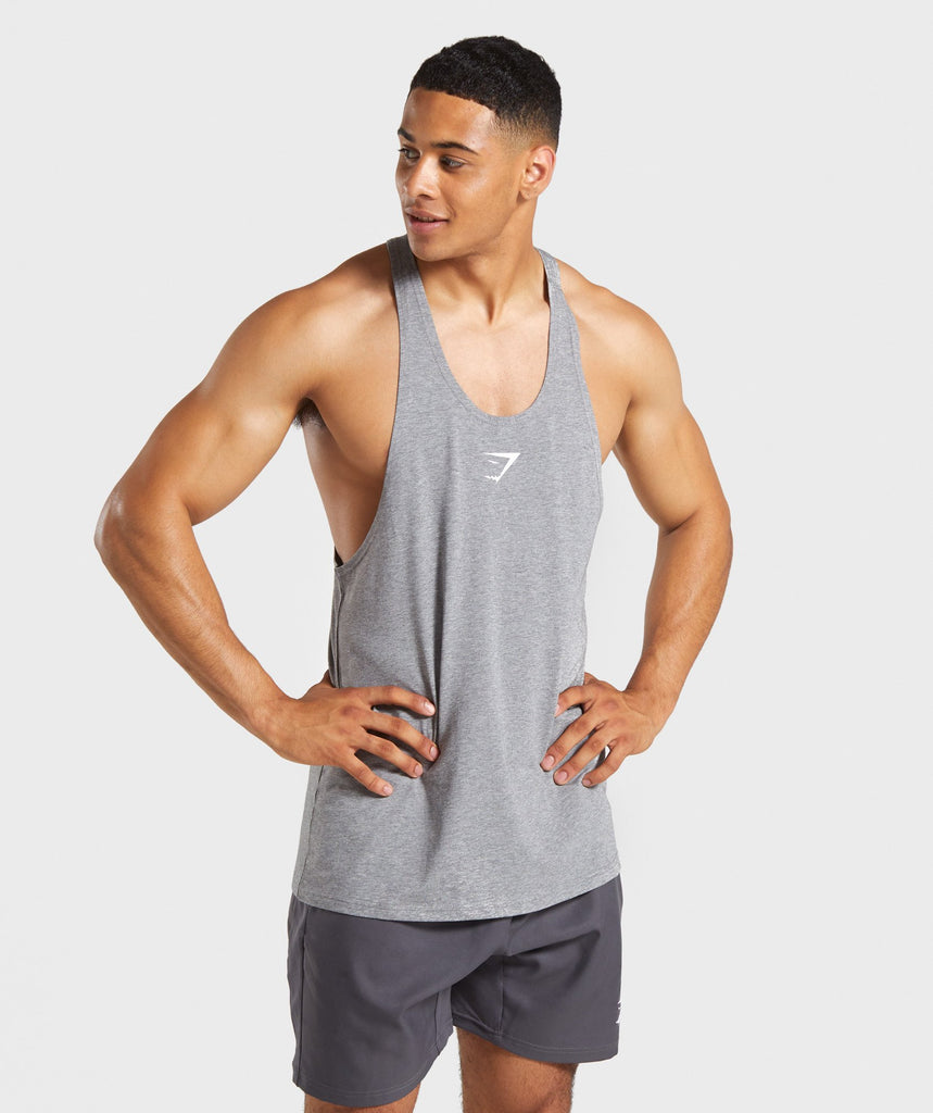Gymshark Critical Stringer - Grey Marl 1