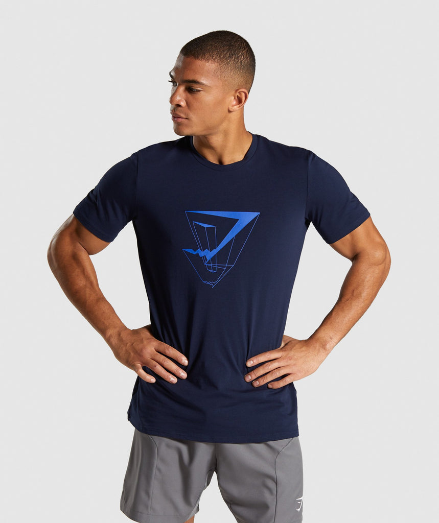 Gymshark Dimension T-Shirt - Dark Blue 1