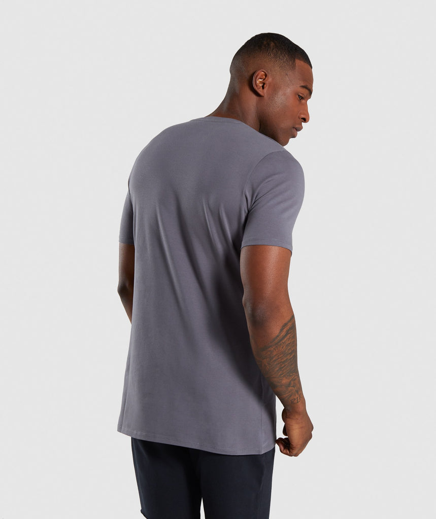 Gymshark Distort T-Shirt - Smokey Grey 2