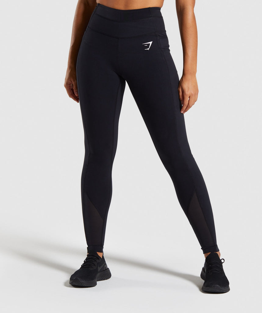 Gymshark Dreamy Mesh Leggings - Black 1