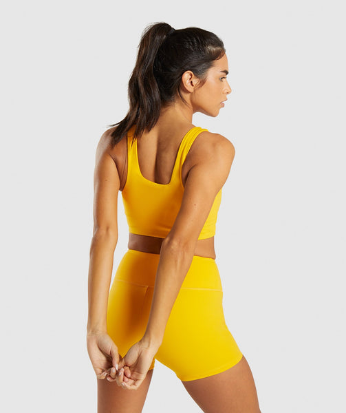 Gymshark Dreamy Sports Bra - Citrus Yellow 1