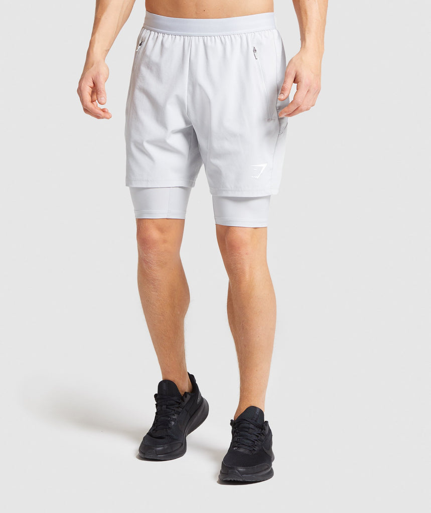 Gymshark Element Hiit 2 in 1 Shorts - Grey 1