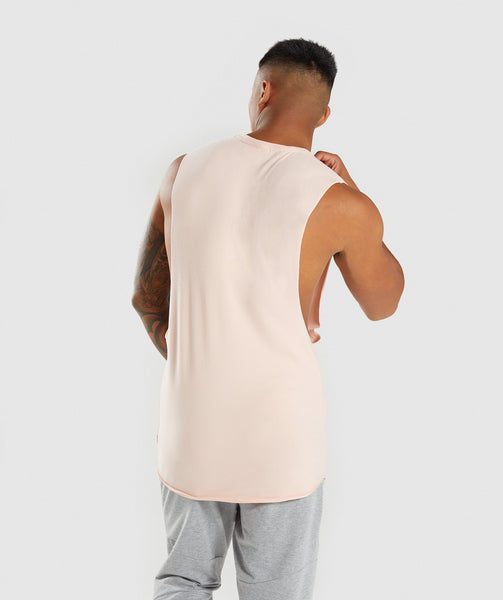 Gymshark Eaze Sleeveless T-Shirt - Blush Nude 1
