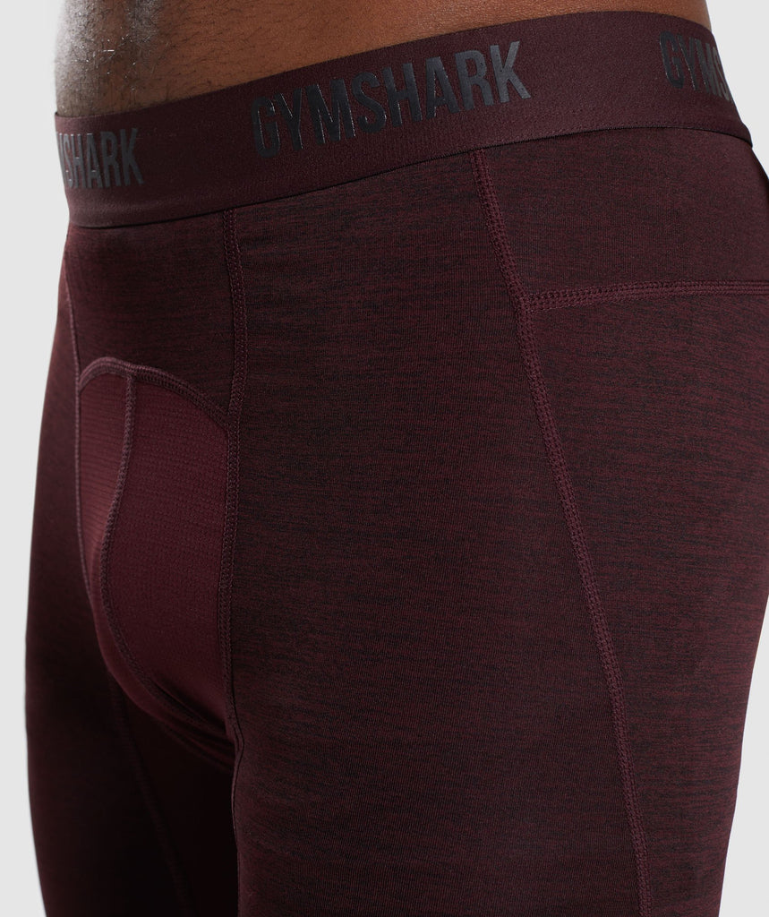Gymshark Element+ Baselayer 3/4 Leggings - Ox Red Marl 6