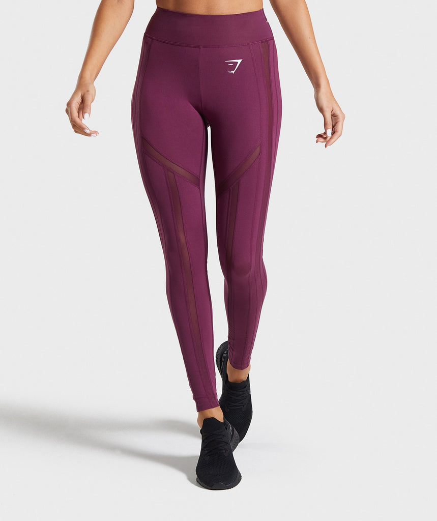 Gymshark Embody Leggings - Dark Ruby 1