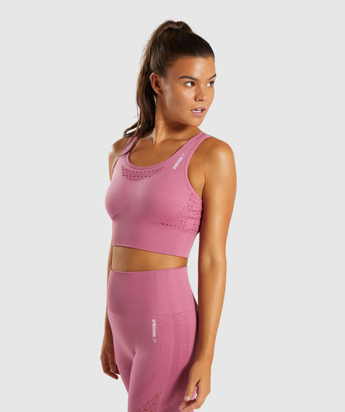 Gymshark Energy+ Seamless Crop Top - Dusky Pink 2