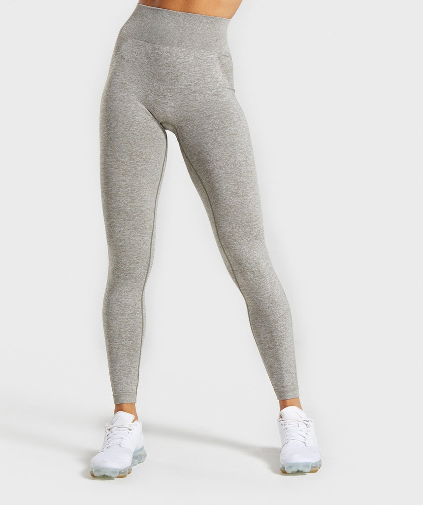 Gymshark Flex High Waisted Leggings - Khaki Marl/Taupe 1