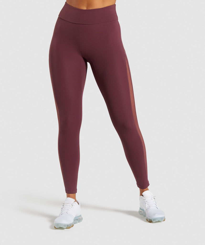 Gymshark Form Leggings - Berry Red 1