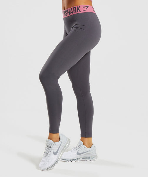 Gymshark Fit Leggings - Charcoal/Dusky Pink 2