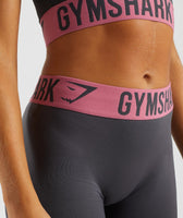 Gymshark Fit Leggings - Charcoal/Dusky Pink 11