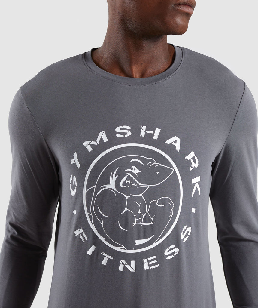 Gymshark Legacy Long Sleeve T-Shirt - Smokey Grey 5
