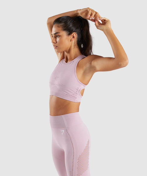 Gymshark Flawless Knit Sports Bra - Washed Lavender 2