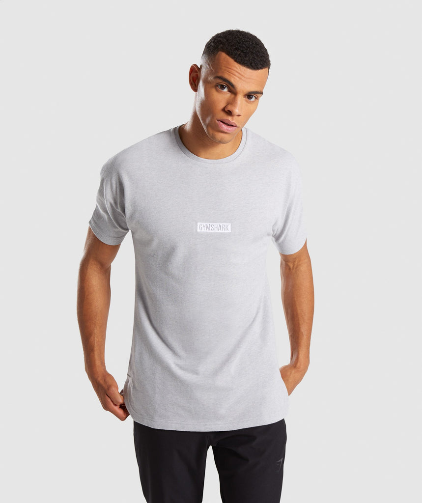Gymshark Fresh T-Shirt - Light Grey Marl 4