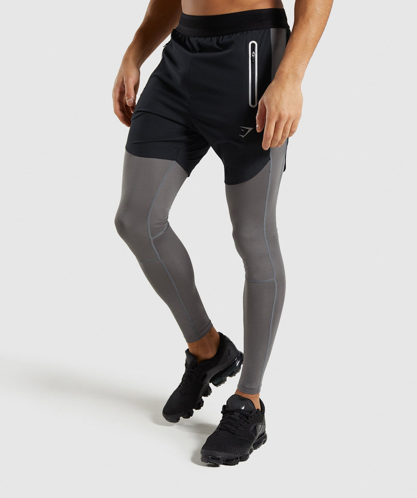 Gymshark Fuse 2 In 1 Shorts - Black/Smokey Grey 1