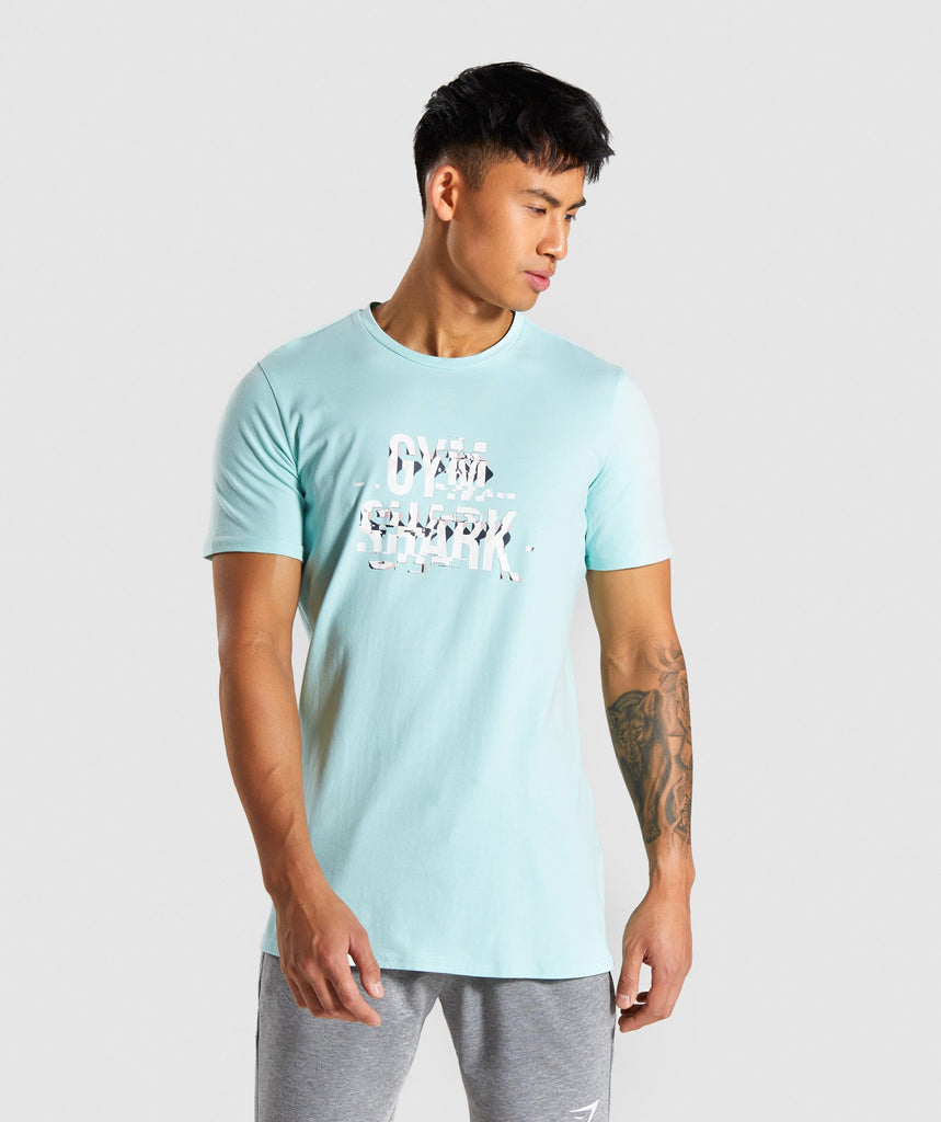 Gymshark Glitch T-Shirt - Turquoise 1