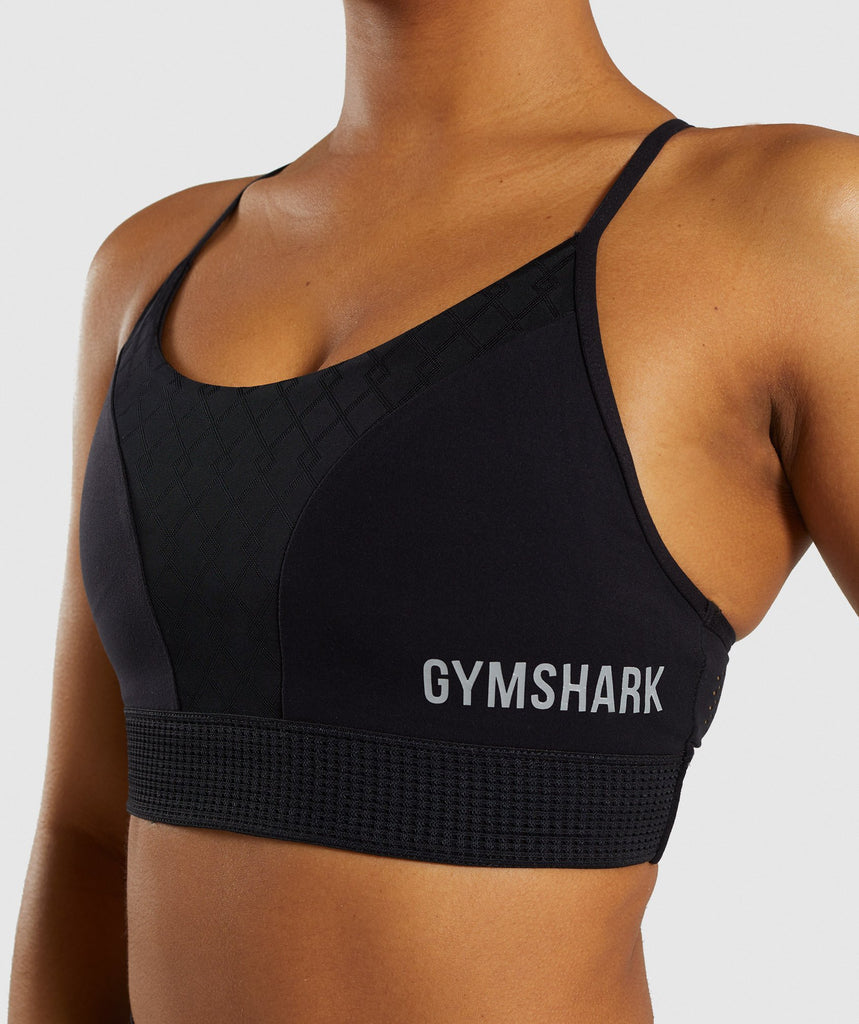 Gymshark Geo Mesh Sports Bra - Black 6