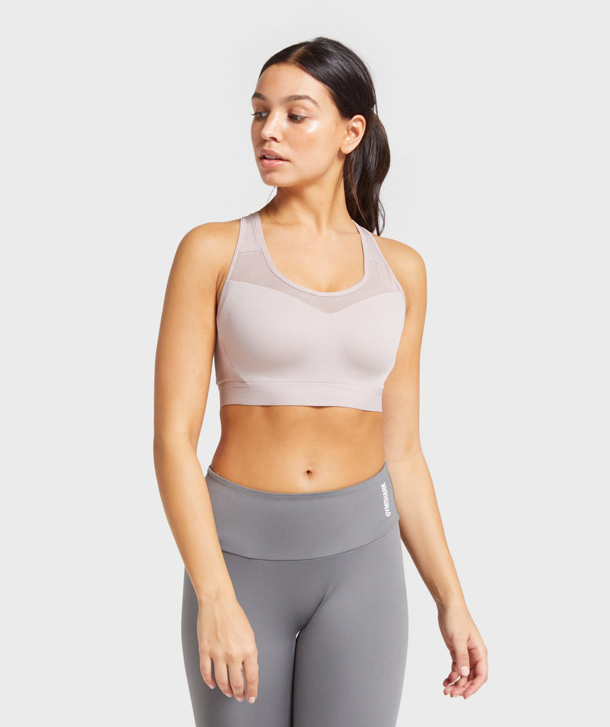 Gymshark Open Back Training Sports Bra - Taupe 1