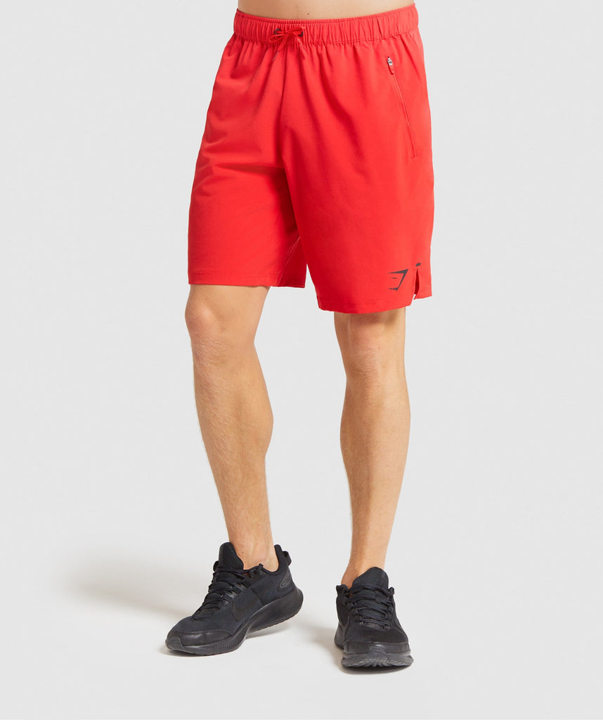"Gymshark Element Hiit 9"" Shorts - Red 1"