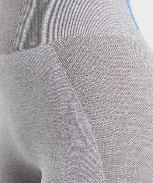 Gymshark Flex High Waisted Leggings - Light Grey/Blue 4