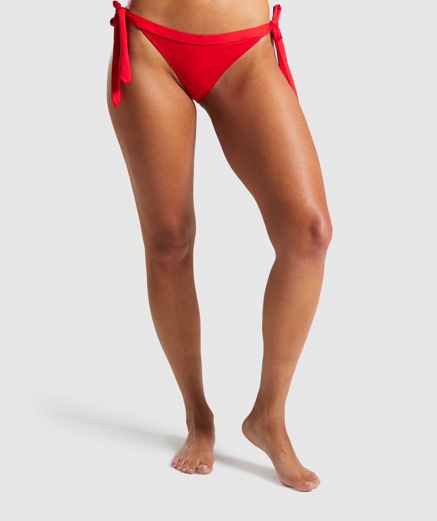 Gymshark Horizon Bikini Bottoms - Red 1