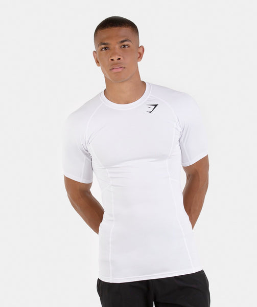 Gymshark Element Baselayer Short Sleeve Top - White 4