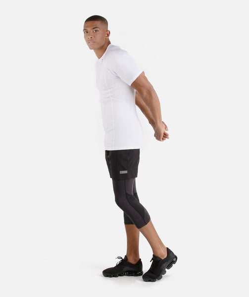 Gymshark Element Baselayer Short Sleeve Top - White 3