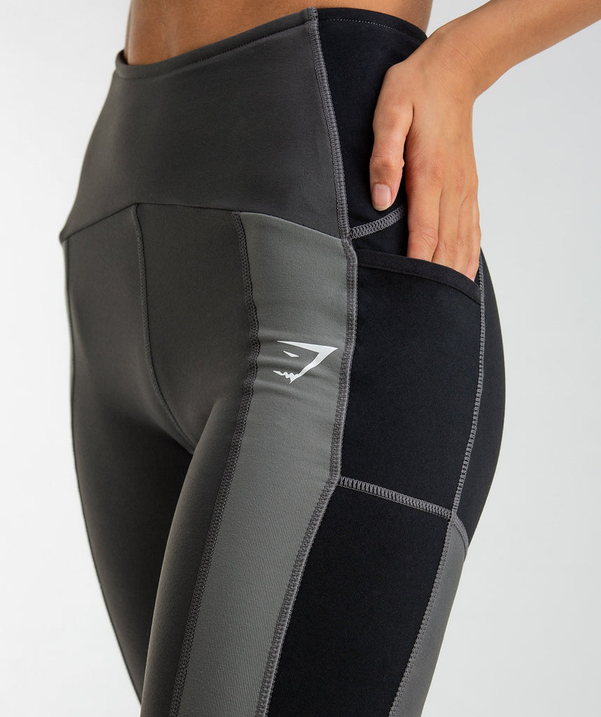 Gymshark Tonal Block Leggings - Black 5