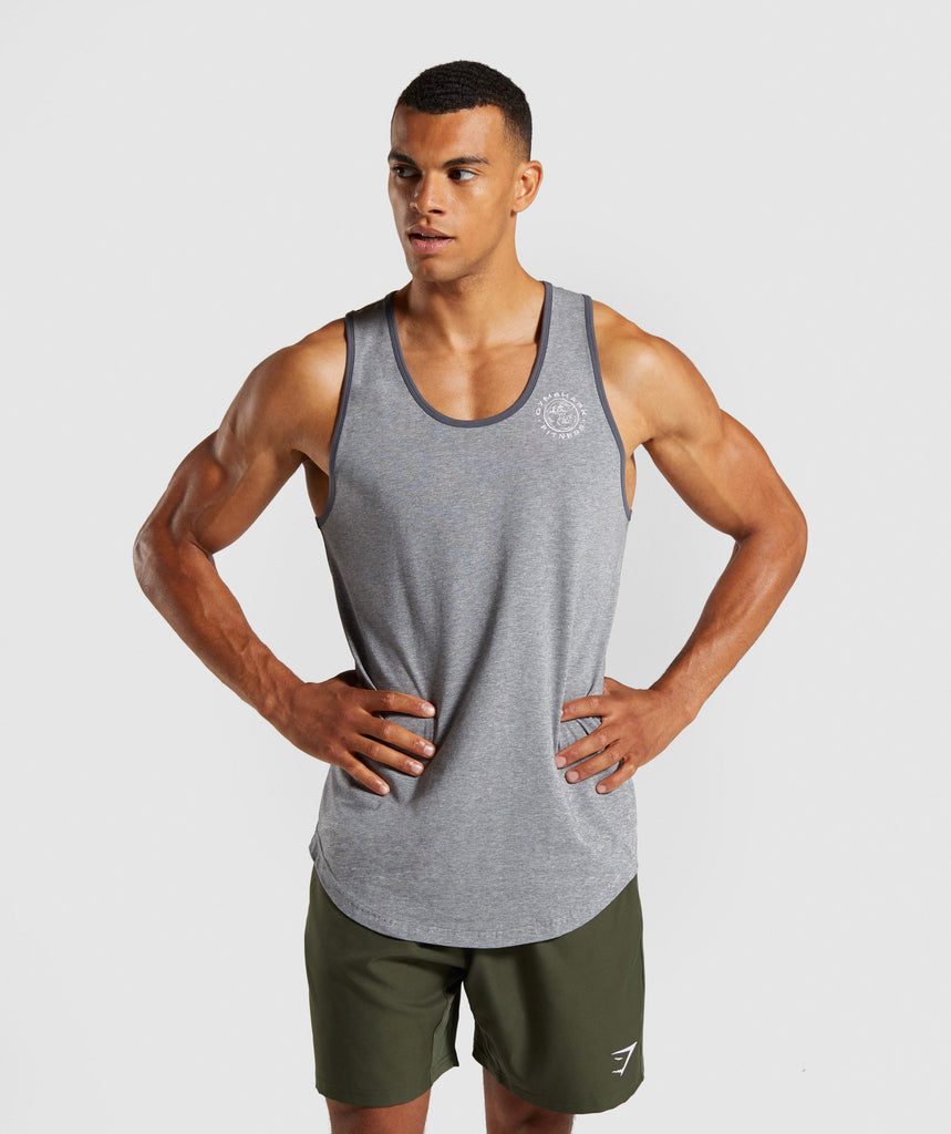 Gymshark Legacy Luxe Tank - Grey Marl 1