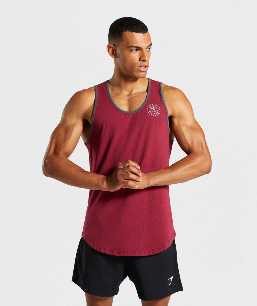 Gymshark Legacy Luxe Tank - Claret 1